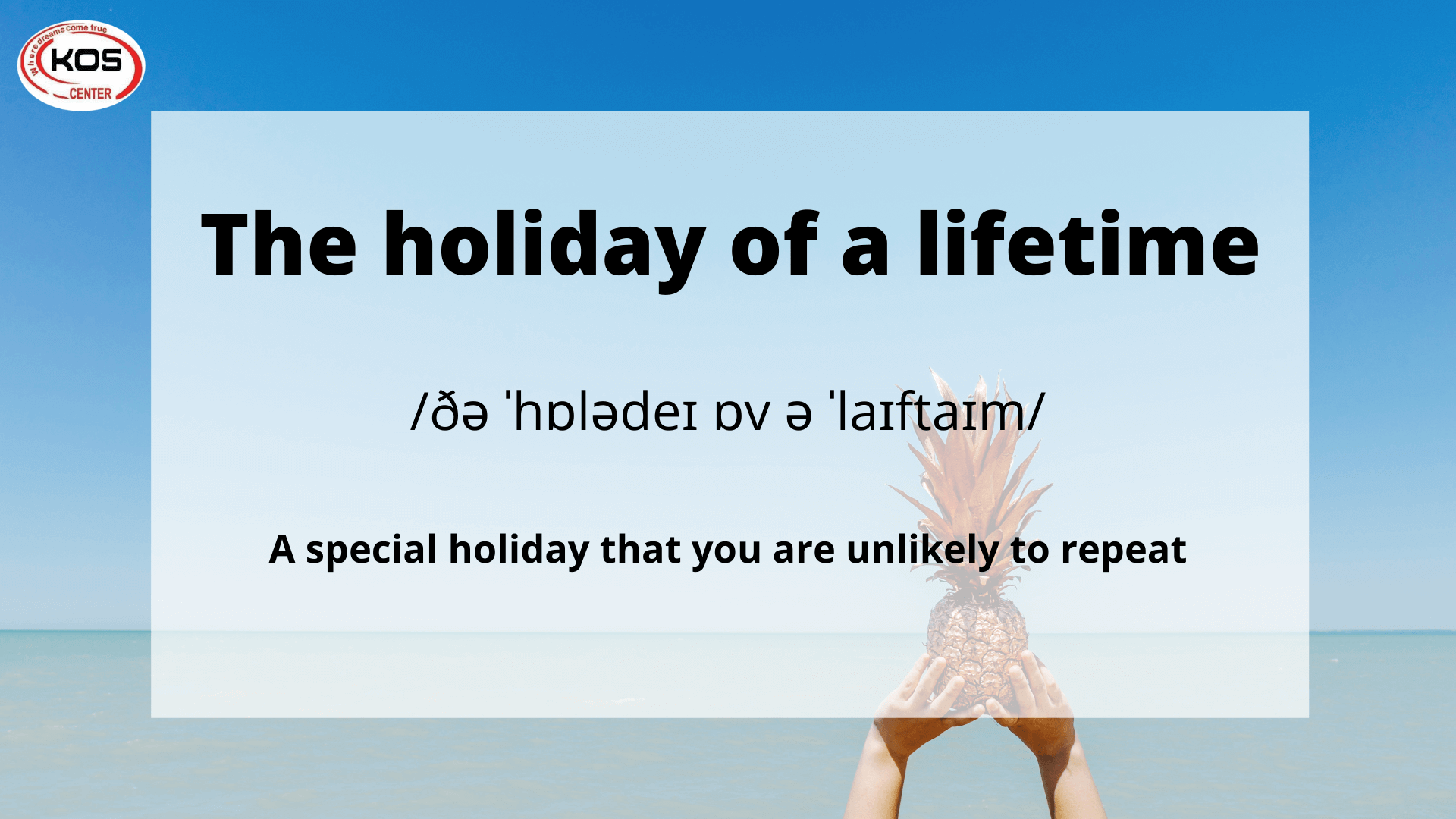 The holiday of a lifetime